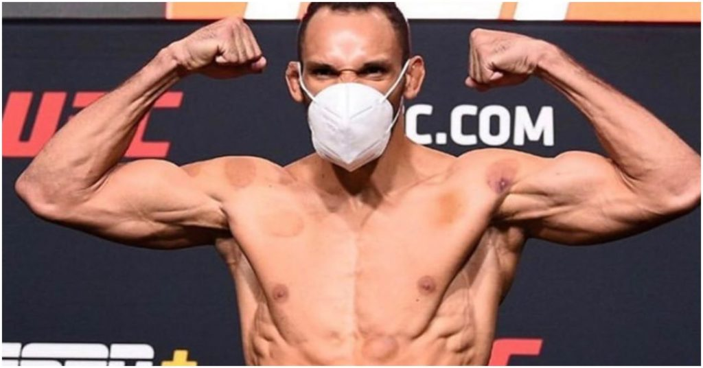 "Michel Pereira Explains ""Kiss and Slap"" on Zelim Imadaev During UFC Vegas 9"