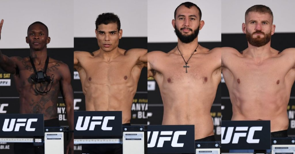 UFC 253 Weigh-In Results: Both Title Fights Set, Multiple Fighters Miss Weight