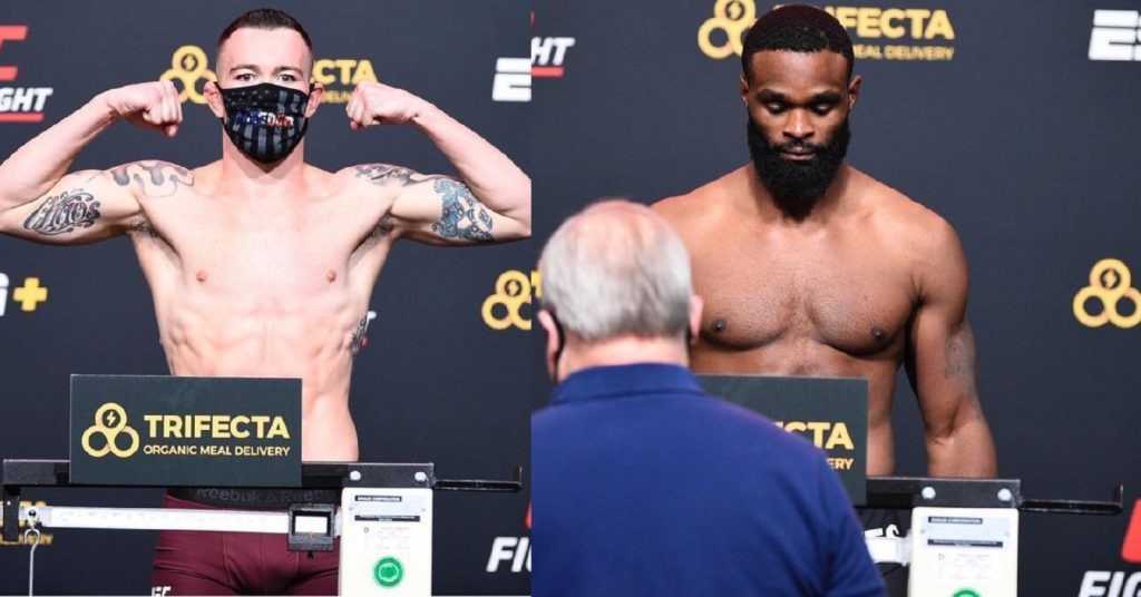 UFC Vegas 11 Weigh-Ins: Colby Covington, Tyron Woodley Make Weight For Main Event