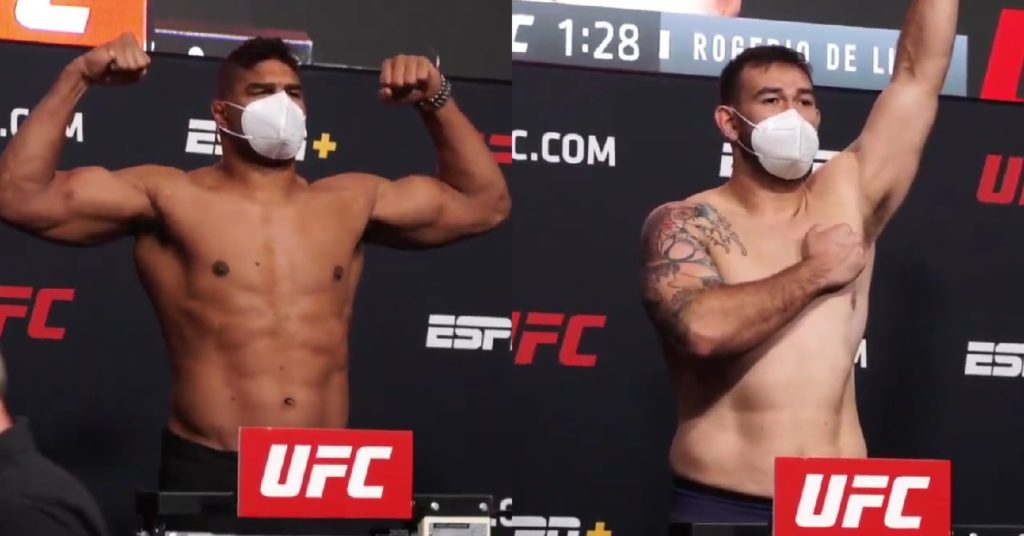 UFC Vegas 9 Weigh-Ins: Alistair Overeem and Augusto Sakai Make Weight For Main Event