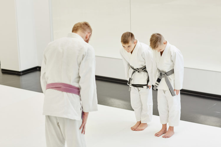 Martial Arts Coach And Students