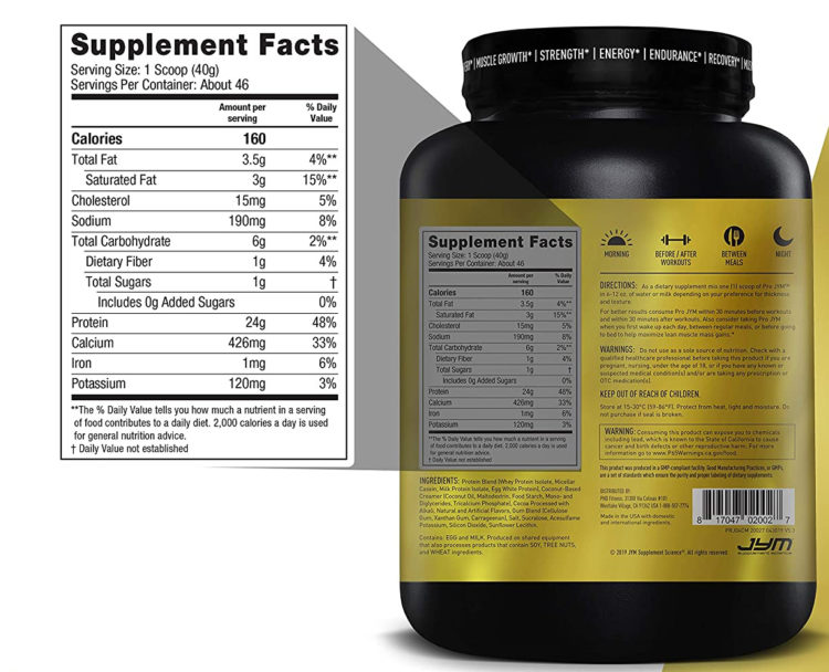 Pro Jym Protein Ingredients