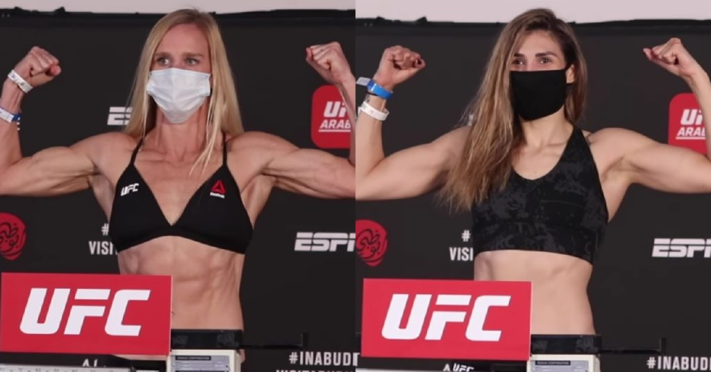 UFC Fight Island 4 Weigh-Ins: Holly Holm, Irene Aldana Make Weight For Main Event