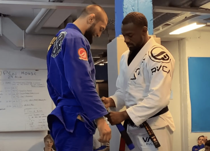 Khamzat Chimaev BJJ Blue Belt