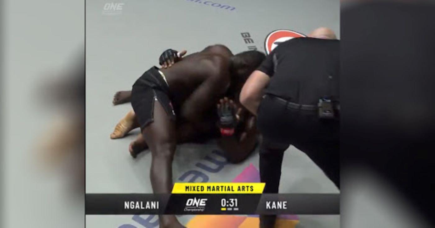 Senegalese Wrestler 'Reug Reug' Stops Alain Ngalani In His ONE Championship Debut