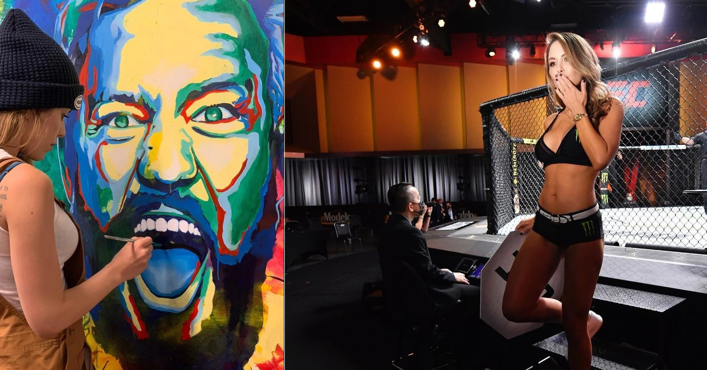 UFC Ring girl Brittney Palmer Revealed Conor McGregor Painting Ahead of His Return Against Dustin Poirier