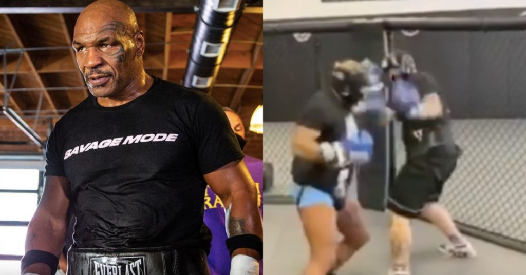Mike Tyson Lights Up 28 Year Old Boxer In Recent Sparring Session (VIDEO)