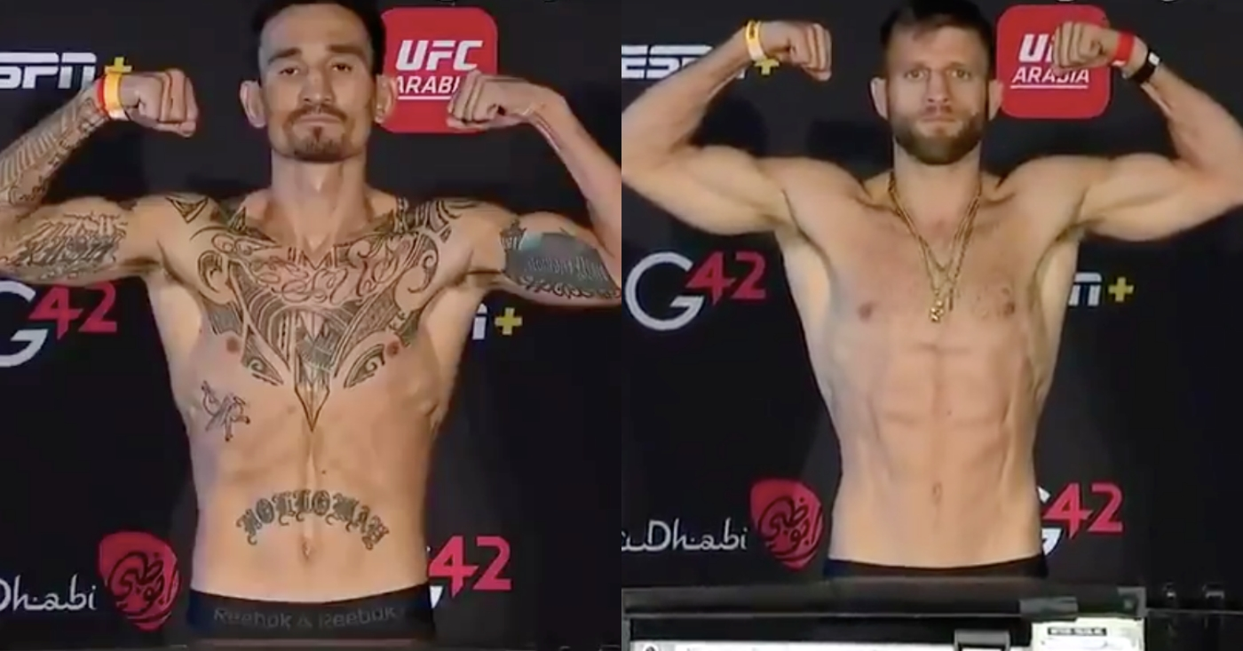 UFC Fight Island 7 Weigh-Ins: Max Holloway and Calvin Katter Make Weight For Main Event
