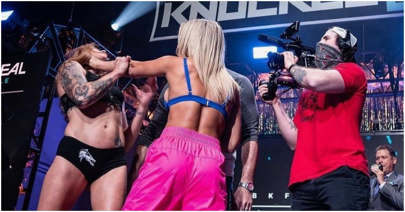 (Video) Paige Van Zant Grabs Throat of Britain Hart During Intense Staredown