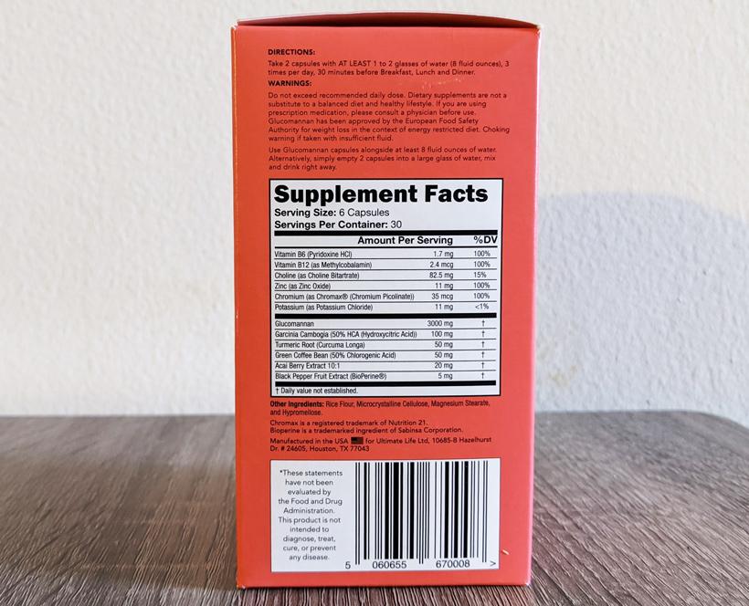 Leanbean Ingredients