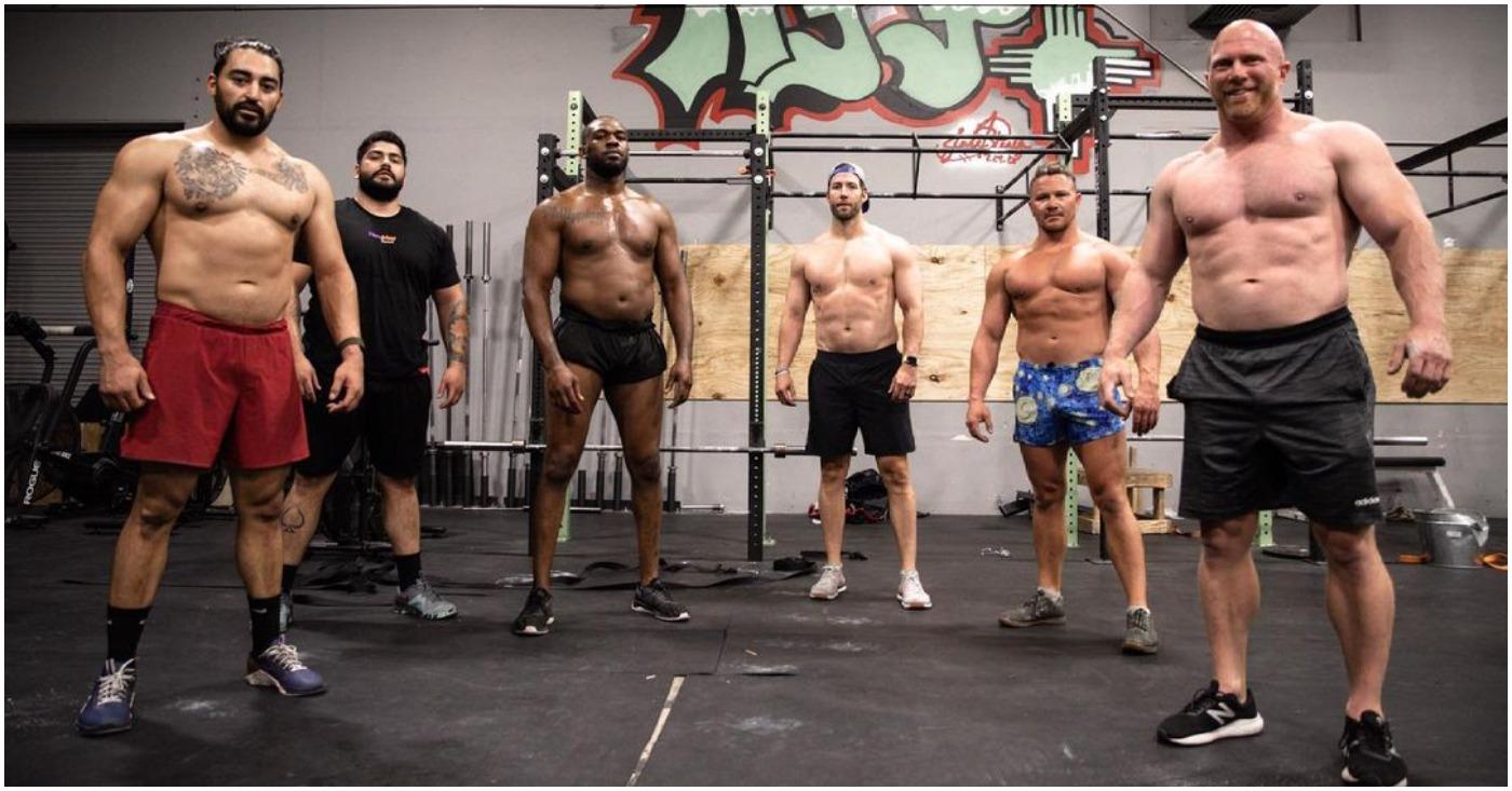 (Video) Watch Jon Jones Massive Heavyweight Frame Hit the Pads