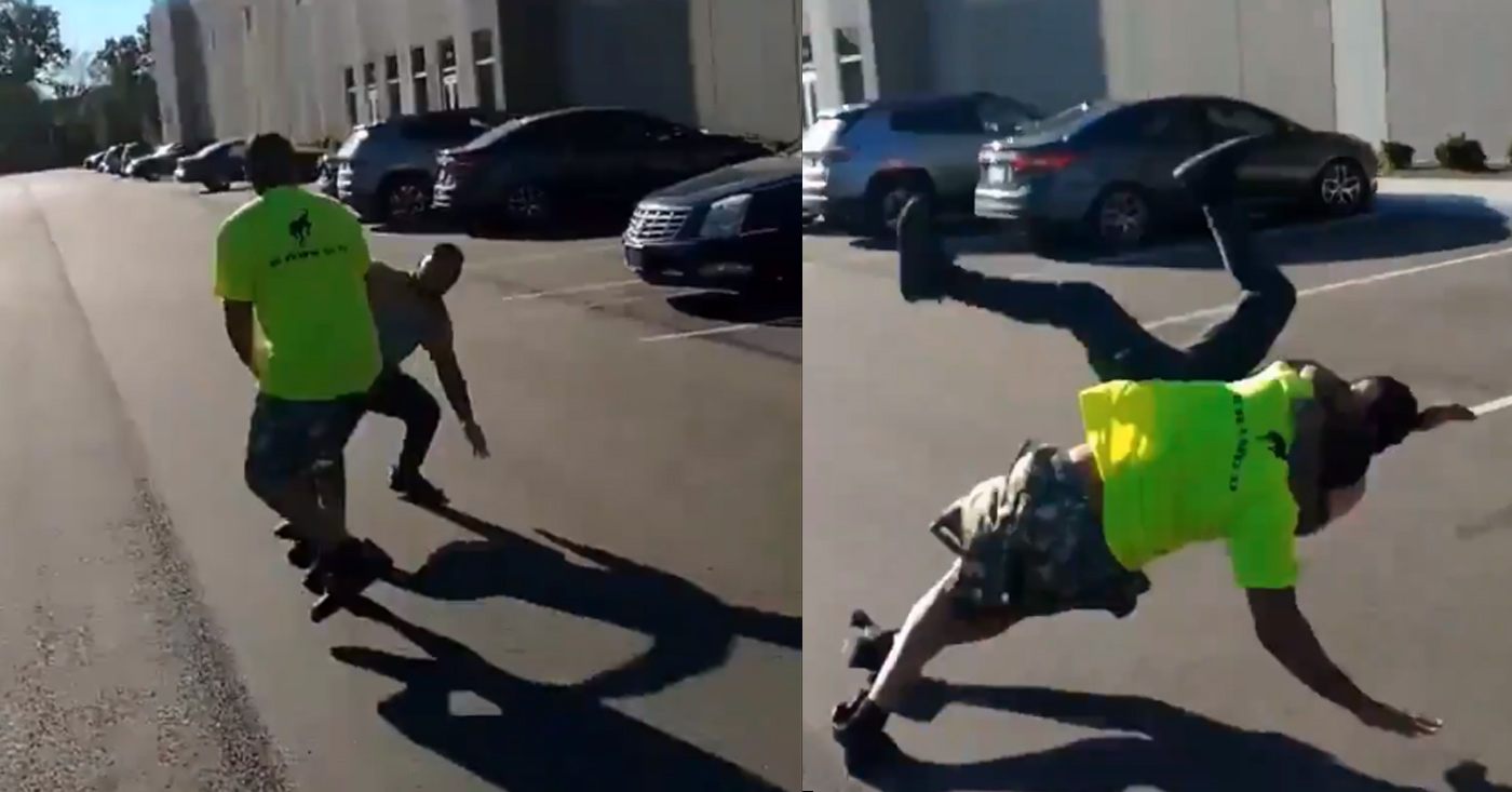 Man Slams Co-Worker's Boyfriend With Multiple Angle Slam Suplexes | MiddleEasy