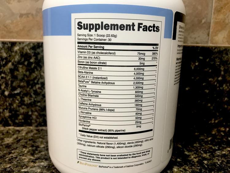 Bulk Pre Workout Ingredients